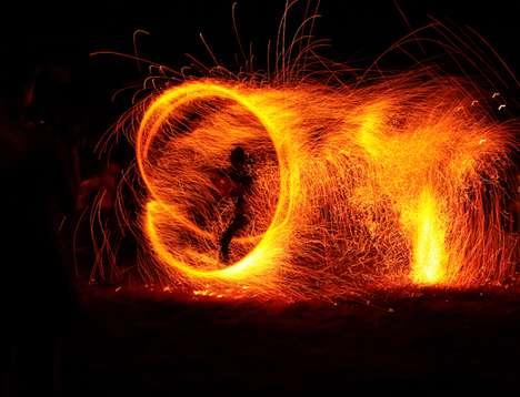 Fiery Night Photography