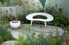 Frowny Face Furniture - The Shell Bench by Urbis Design Was Inspired by a Sad Seashell