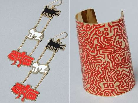 Graffiti-Inspired Accessories - The Keith Haring Jewelry Collection is Eighties