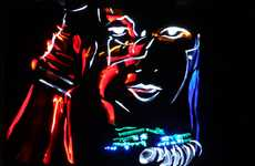 Illuminated Celebrity Art - The 'Light Graffiti Stars' Series by Mark Brown and Marc Cameron