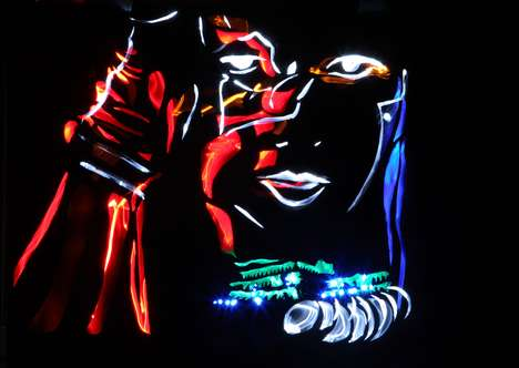 Illuminated Celebrity Art