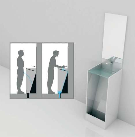 Sink Urinal Facilities - The Eco Urinal Combines Sinks and Urinals into One Functional Component