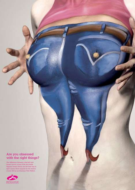 Busty Awareness Campaigns - The Breast Cancer Foundation Ad Campaign is Super Quirky