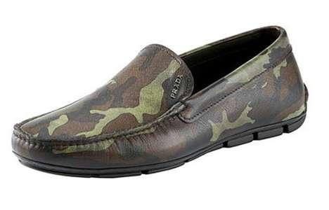 Camo Print Loafers