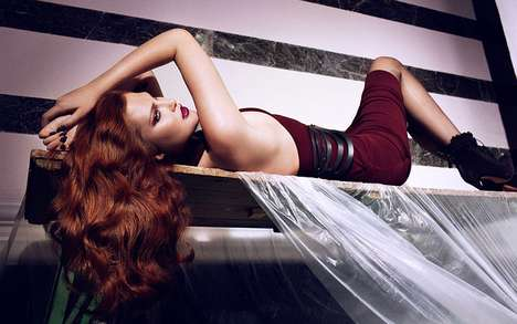 Sultry Femme Fatale Spreads - The Catherine McNeil Vogue Korea Spread