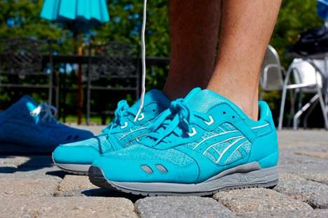 Vibrant Aquatic Kicks - The Ronnie Fieg and Asics Collaboration Goes Blue
