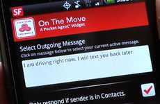 Automated Texting Apps - The Android 'On the Move' Widget Will Keep You Safe on the Road