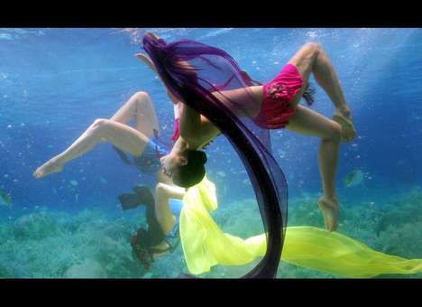 Submerged Fashion Shows - Park Sul-Nyeo Showcases his Dress Collection Under Water