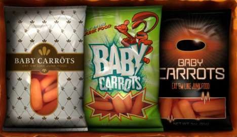 Junk Food Vegetables - The Baby Carrots Campaign Aims to Help Kids Eat Healthier