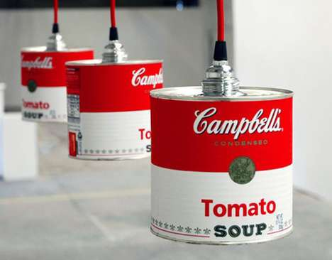 Retro Recycled Lighting - The 'Can Light' Seems to Pay Tribute to Andy Warhol