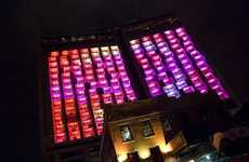 Kaleidoscope Hotels - Target's Fashion Event Transforms Hotel Into Colorful Light Show