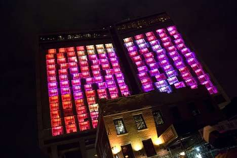Target's Fashion Event Transforms Hotel Into Colorful Light Show
