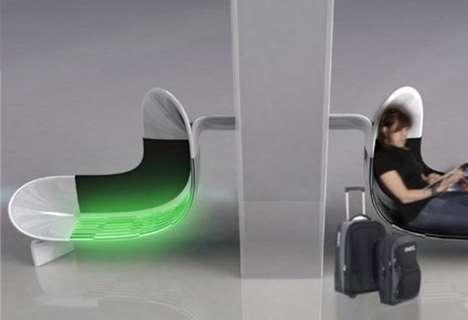 Illuminated Airport Seats
