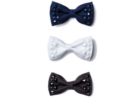 Studded Bow Ties