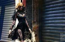 Funeralistic Fashion - Mario Sorrenti Shoots Models in Black Lace for Vogue Nippon Magazine