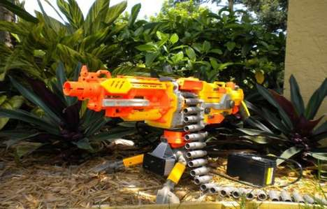 Toy Gun Security Systems - The Infrared Nerf Autocannon is a Non-Lethal Guard Dog