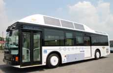 Deceptive Solar Buses - Ryobi Bus Uses Sanyo Solar Panels to Power Interior LED Lights