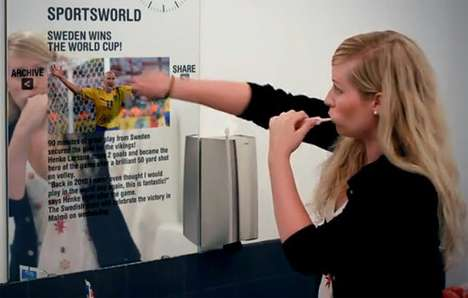 Futuristic Mirror Displays - Tat Creates 'Minority Report'-Style Technology for All of Your Screens