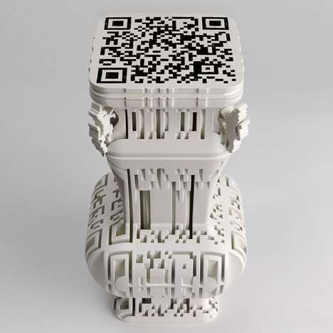 Scan Code Sculptures - Lab Craft at Tent London Showcases Amazing Digital Art