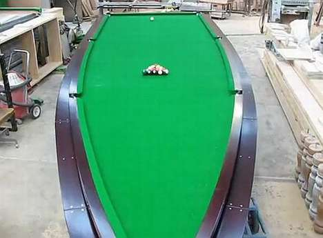 Watercraft Pool Tables - Peter McKee Creates an Incredible Speedboat Billiards Table