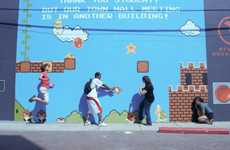 Playable Video Game Murals - The Interactive Mario Mural Brings Super Mario Bros. to Life
