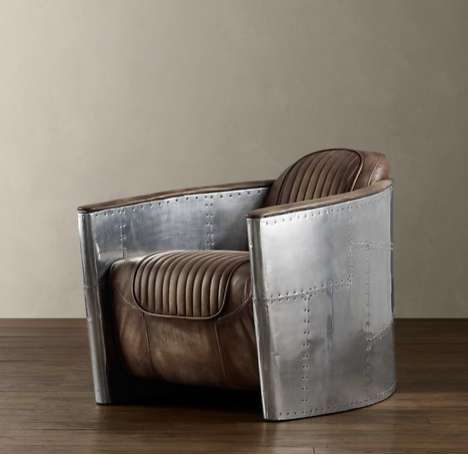 Aircraft-Inspired Seating - The Aviator Chair Will Provide You With a Badass Boost of Confidence