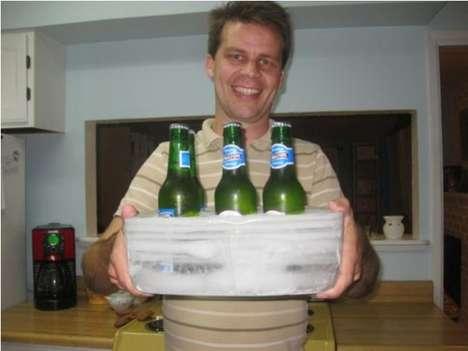 DIY Ice Beer Trays