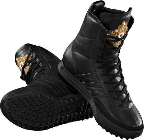 Gilded Cross Kicks - These Above-The-Ankle Hi-Tops For Adidas by Jeremy Scott are Way Hot