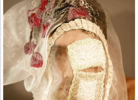 Gauzy Embroidered Veils