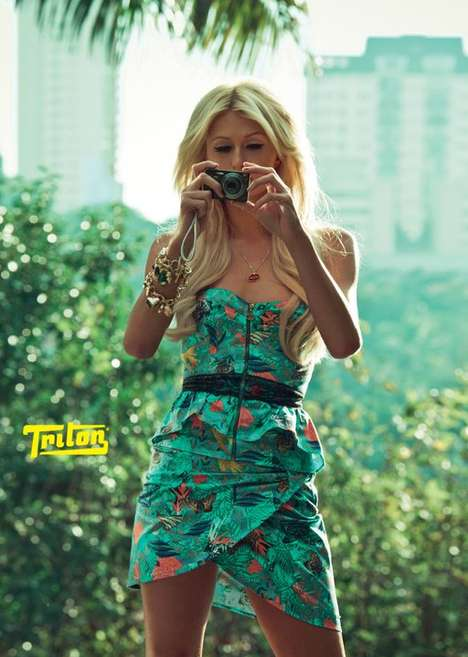 Paris Hilton Heats Up the Triton Spring/Summer 2011 Collection