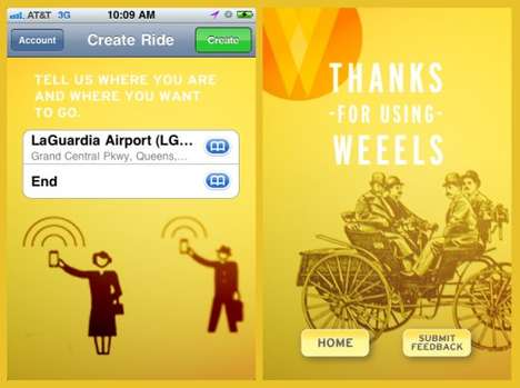 Eco-Friendly Transport Apps - Weeels is a Cab-Sharing App That Helps the Environment