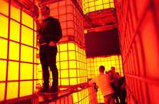 Boxy Interactive Walls - The Balestra Berlin Kubik Installation is Stacked-Up Water Tanks