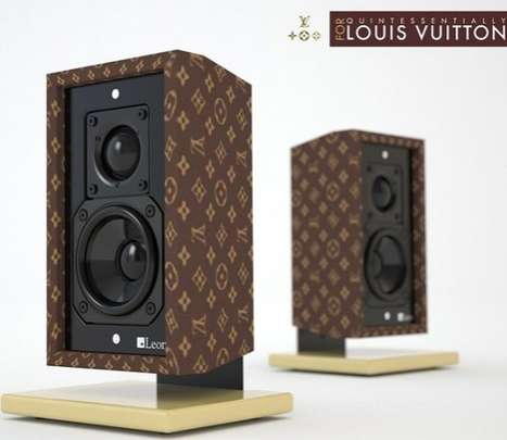 Fashionable Sound Systems - The Louis Vuitton Speakers are Music to Gold-Garnished Ears