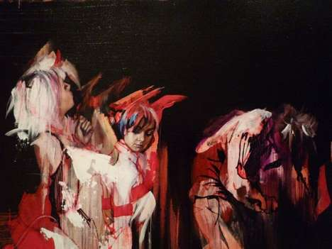 Darkly Driptastic Paintings
