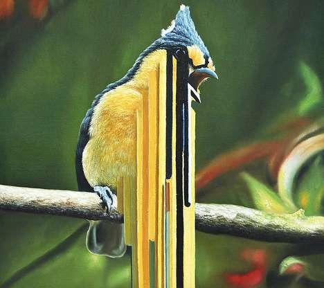 Surrealist Avian Artwork