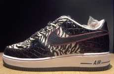 White Tiger Print Sneaks
