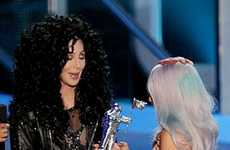 Defiant Divas - Outrageous as Ever Cher Presented Lady GaGa 2010 MTV Award While Scantily Clad
