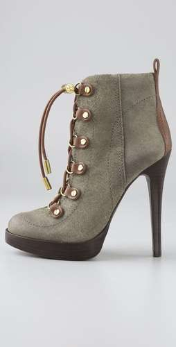 Military Suede Ankle Boots