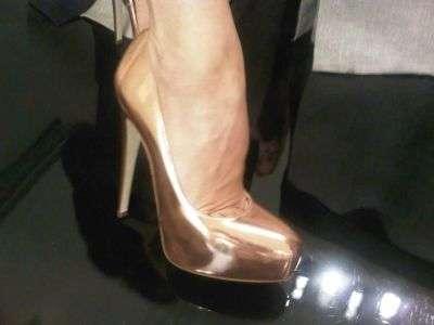 Metallic Pin-Up Heels