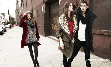 Leopard-Print Winterwear - The Codes Combine Fall Campaign Helps You Stay Warm