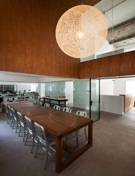Modern Rustic Offices - The Black Box by NHDRO Balances the New with the Old