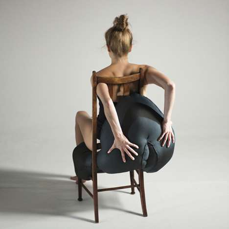 Oddly Shaped Seating - Hybreed by Charlotte Kingsnorth is a Series of Obese Chairs