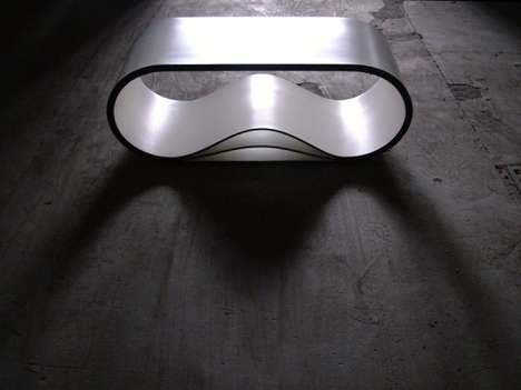 Metallic Curvy Benches