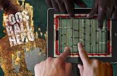 Tablet Gaming Tables - Foosball Hero Turns Your iPad into a Rec-Room Essential