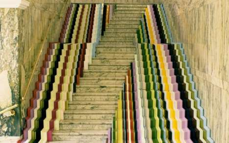 The John Jones Framed Staircase at V&A Lets You Walk on the Rainbow