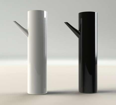 Sleek Cylindrical Teapots