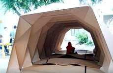 Cardboard Origami Shelters - The Tine Hovsepian 'Cardborigami' Unfolds for the Homeless