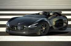 Exoskeleton Electric Roadsters - Peugeot EX1 Concept Car to be Unveiled in Paris