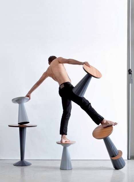 Precariously Balanced Stools