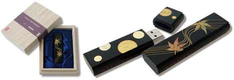Luxury Memory Sticks - The Hakue USB Collection Features Gold Leaf Designs